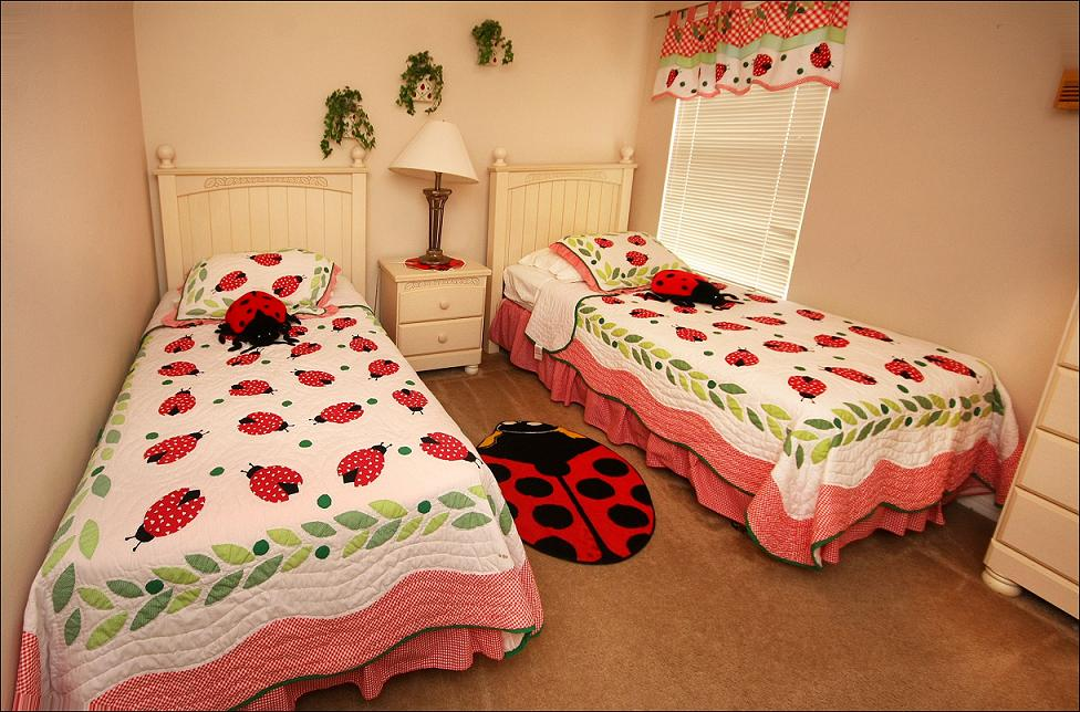 Lady Bug's Room with TV