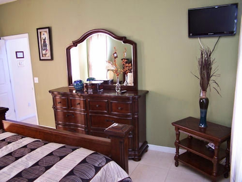 Master bedroom dressor with TV